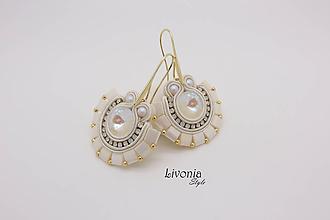 Náušnice - Kleopatra - Milky Wedding - 10547293_