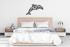 Dekorácie - Kovová geometrická nástenka / dekorácia DOLPHIN - 10549075_