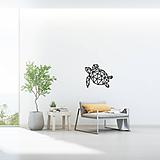 Dekorácie - Kovová geometrická nástenka / dekorácia TURTLE - 10549088_