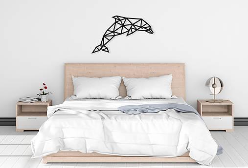 Kovová geometrická nástenka / dekorácia DOLPHIN