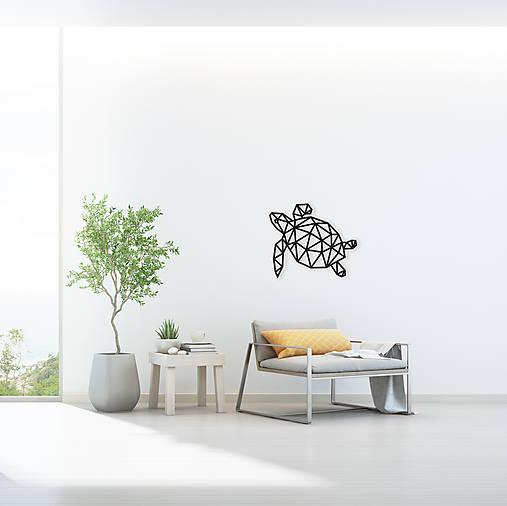 Kovová geometrická nástenka / dekorácia TURTLE