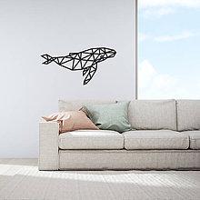 Dekorácie - Kovová geometrická nástenka / dekorácia WHALE - 10549083_