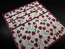 Úžitkový textil - Stredové obrusy tulipán - 10547261_