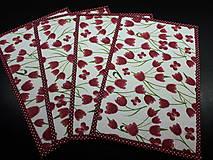 Úžitkový textil - Jarná sada tulipán (Prestieranie) - 10547262_