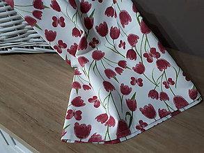Úžitkový textil - Jarná sada tulipán (Obrus) - 10547256_