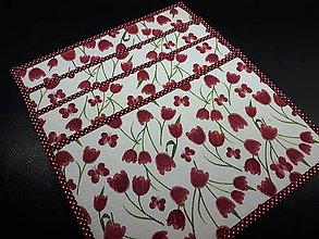 Úžitkový textil - Jarná sada tulipán (Prestieranie) - 10547261_