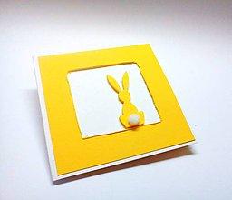 Papiernictvo - Pohľadnica ... malá veľkonočná (Žltá) - 10547931_