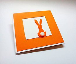 Papiernictvo - Pohľadnica ... malá veľkonočná (Oranžová) - 10547941_