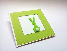 Papiernictvo - Pohľadnica ... malá veľkonočná (Zelená) - 10547956_