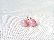 Náušnice - Vintage pink pearls clips - 10546553_