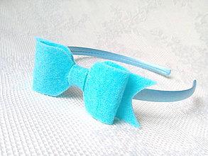 Ozdoby do vlasov - Bow headband (Tyrkysová) - 10547110_