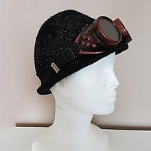 Čiapky - Plstený klobúk - Čierna perla - 10548504_