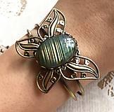 Náramky - Labradorite & Butterfly Bracelet / Náramok s labradoritom /2049 - 10545866_