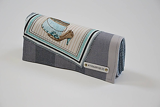 Peňaženky - Priehradková peňaženka zo scrapu  Lenny Lamb Bamboo Barite s panelom topánky - 10546352_