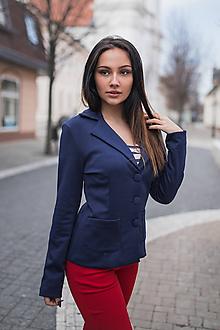 Kabáty - Dámske sako tmavomodré - 10548380_