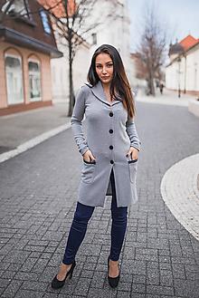 Svetre/Pulóvre - Dámsky kardigán šedý - 10548435_