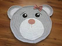 Detské doplnky - Háčkovaný macíkový detský koberec - 10545708_