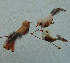 Dekorácie - ...plstený vtáčik... - 10547056_