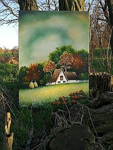 Obrazy - Paleta farieb - olejomaľba na plátne - 10548359_