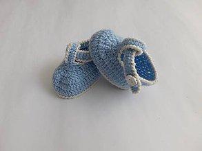 Topánočky - Svetlomodré topánočky Baby Merino - 10548089_