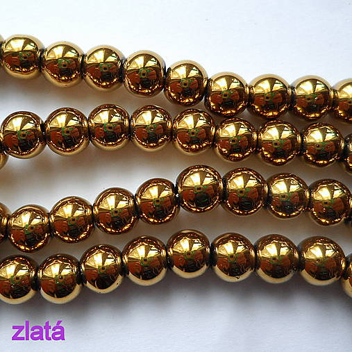 CrystaLine Beads™-6mm-1ks (zlatá)