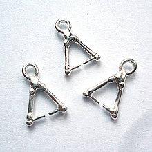 Komponenty - Šlupňa trojuholník 12mm-strieb-1ks - 10549097_