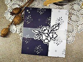Papiernictvo - Modrotlačová svadba I. pohľadnica - 10546949_