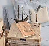 Papiernictvo - kožený cestovateľský denník 2 ROKY PRÁZDNIN - 10548178_