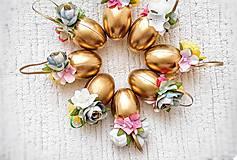 Dekorácie - Veľkonočné kraslice zlaté - 10548525_