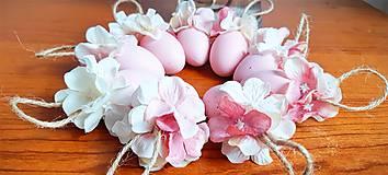Dekorácie - Veľkonočné kraslice ružové - 10548550_