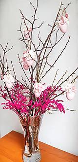 Dekorácie - Veľkonočné kraslice ružové - 10548552_