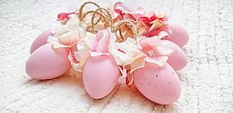 Dekorácie - Veľkonočné kraslice ružové - 10548557_