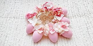 Dekorácie - Veľkonočné kraslice ružové - 10548559_