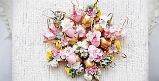 Dekorácie - Veľkonočné kraslice ružové - 10548560_
