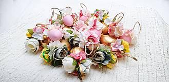 Dekorácie - Veľkonočné kraslice ružové - 10548563_