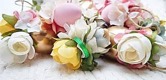 Dekorácie - Veľkonočné kraslice ružové - 10548565_