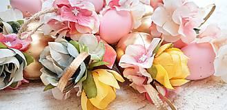 Dekorácie - Veľkonočné kraslice ružové - 10548566_
