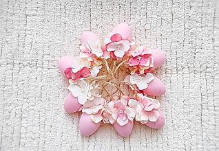 Dekorácie - Veľkonočné kraslice ružové - 10548556_