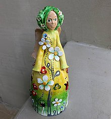 """Socha - """"Rozkvitnutá 2"""" - maľovaný zvonec - 10547030_"""