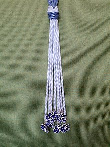 Náhrdelníky - Uzlový náhrdelník s koralkami  (modré) - 10547379_