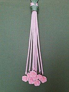 Náhrdelníky - Uzlový náhrdelník s koralkami - 10547405_