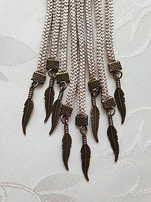 Náhrdelníky - Uzlový náhrdelník s príveskom (pierko) - 10548022_