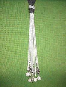 Náhrdelníky - Uzlový náhrdelník s príveskom (filigran a kovová koralka - ježko) - 10548139_