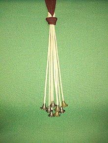 Náhrdelníky - Uzlový náhrdelník s príveskom (sukienka) - 10548145_