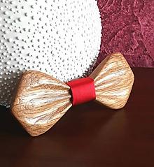 Doplnky - Pánsky drevený motýlik - 10546745_