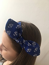 Ozdoby do vlasov - modrotlačová čeleka - 10546898_