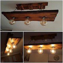 Svietidlá a sviečky - Dreveny luster retro 3 - 10545806_