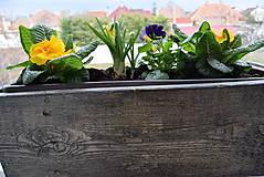 Nádoby - drevený kvetináč, debnička, hrantík - 10546012_