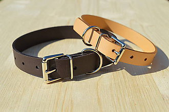 Pre zvieratká - Jednoduchý kožený obojok - 10548056_