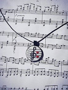 Náhrdelníky - Symfónia lásky - prívesok s retiazkou - 10546270_